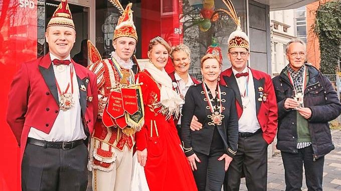 Karnevalisten Zu Besuch Bei Der SPD