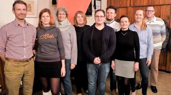 Neuer Vorstand: Wolfgang Ibing, Chris-Clara Bräuking, Heide Kuscharski, Carola Dreher, Robin Bracht, Benedict Grimm, Elke Kramer, Sonja Dehn, Hans-Dieter Hevendehl