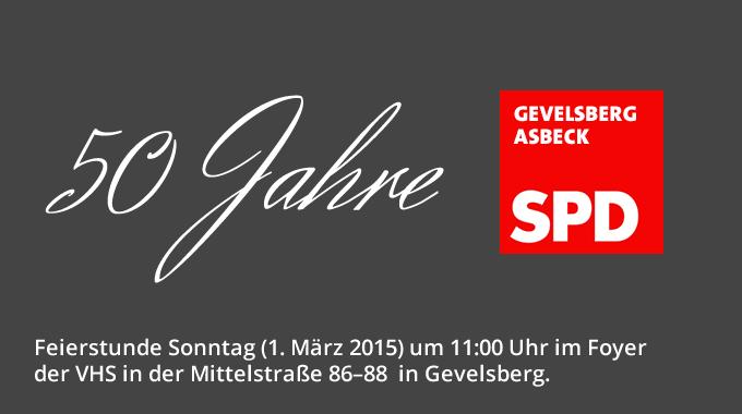 Die SPD Asbeck Feiert Das 50jährige Bestehen – Fritz Sauer Schaut Zurück Auf Die Geschichte