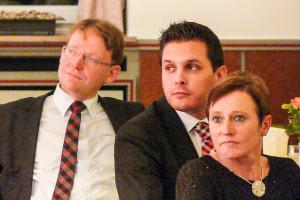Blick Ins Publikum: Elke Kramer, Vorsitzende Des SPD-Ortsvereins Gevelsberg-Mitte, Der Vorsitzende Des SPD-Unterbezirks Hagen, Timo Schisanowski, Und Bürgermeister Claus Jacobi.