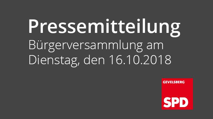 Buergerversammlung 16 10 2018