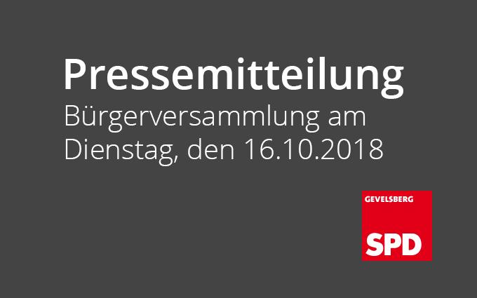 Bürgerversammlung Am Dienstag, Den 16.10.2018