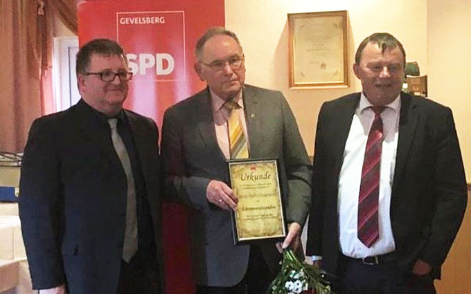 Heinz-Walter Lingemann Zum Ehrenvorsitzenden Des SPD Ortsvereins Vogelsang Ernannt