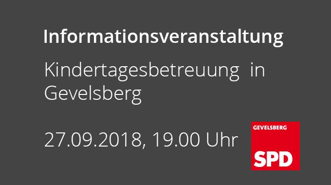 Informationsveranstaltung Der SPD Zur Situation Der Kinderbetreuung In Gevelsberg