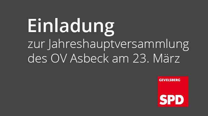 Jahreshauptversammlung SPD – Ortsverein Asbeck