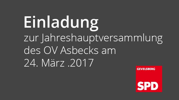 Einladung Zur Jahreshauptversammlung Des OV Asbecks