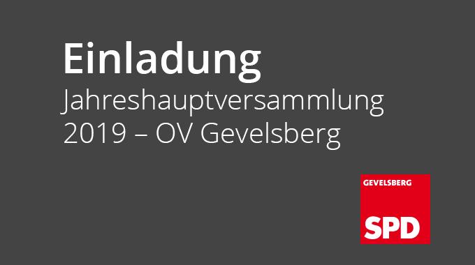 Jahreshauptversammlung 2019 – OV Gevelsberg