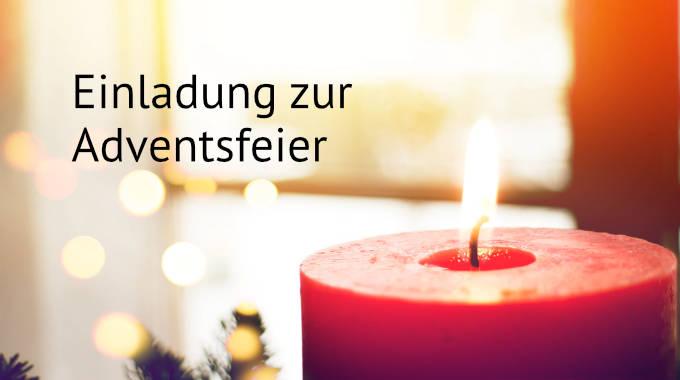 Einladung Zur Adventsfeier Am 5.12.