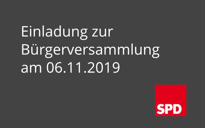 Bürgerversammlung Am Mittwoch, Den 6. November 2019