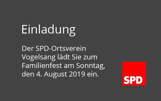 Einladung Zum Familientag Am 4. August 2019