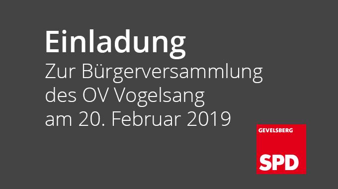 Bürgerversammlung 02.2018 OV Gevelsberg