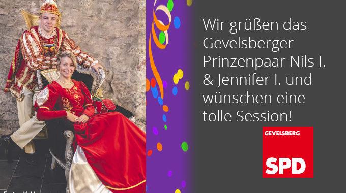 Gevelsberger Prinzenpaar Zu Besuch In Der Geschäftsstelle Der SPD